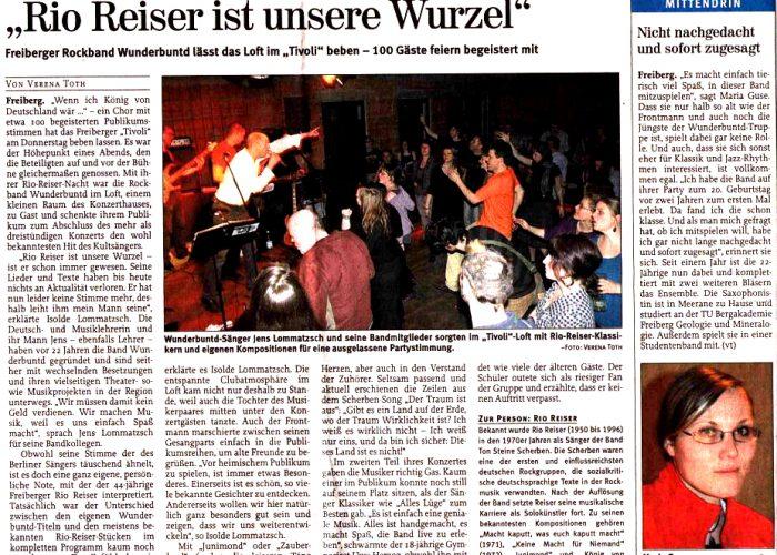 Freie Presse vom 12.04.09