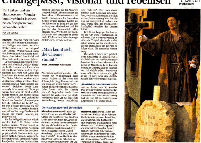 Freie Presse vom 15.11.2011