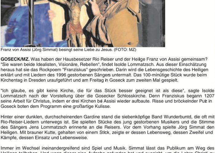 Mitteldeutsche Zeitung vom 11.07.2011