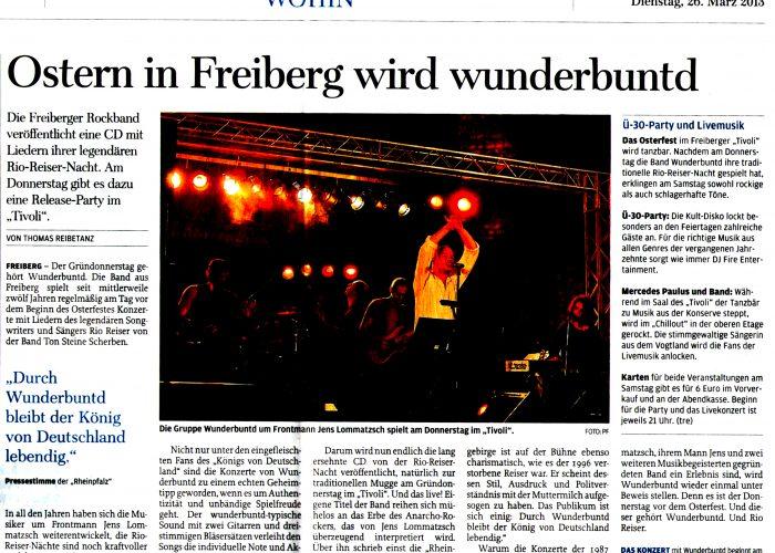 Freie Presse vom 26.03.13