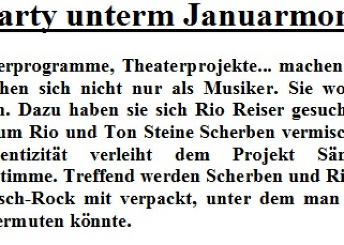 Blitz Chemnitz vom 15.01.02