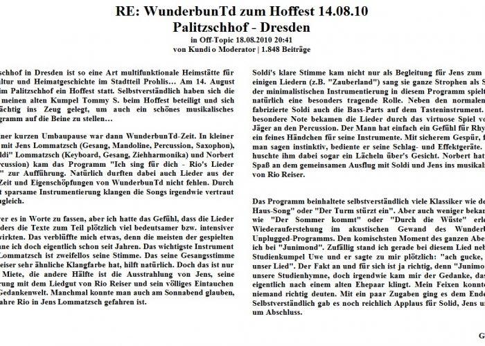 Deutsche Mugge vom 14.08.10